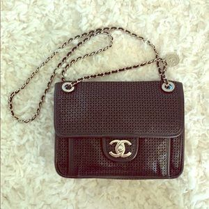 Chanel Up In The Air Flap Perforated Handbag